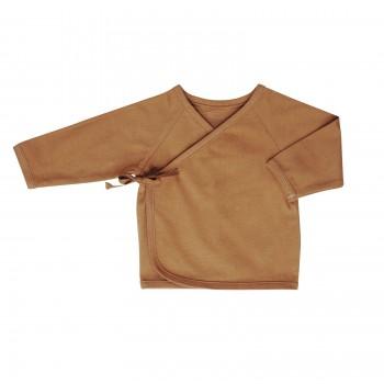 kimono cardigan . nut . 0-6m