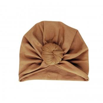 turban beanie . nut