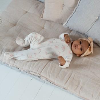 day+night babysuit . pansies